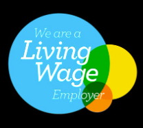 Logo for We Are a Living Wage Employer